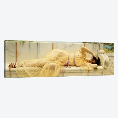 Girl in Yellow Drapery, 1901  Canvas Print #BMN10841} by John William Godward Art Print