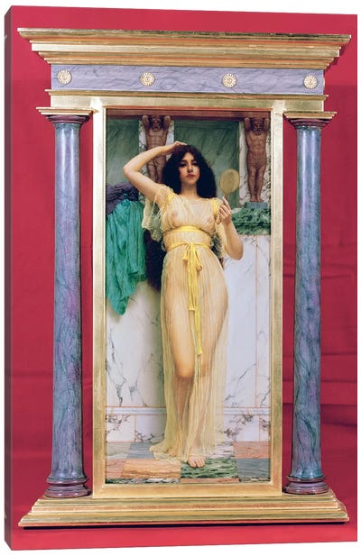 Girl with a Mirror, 1892  Canvas Art Print