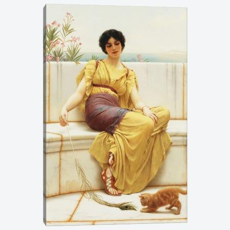 Idleness, 1900  Canvas Print #BMN10843} by John William Godward Art Print