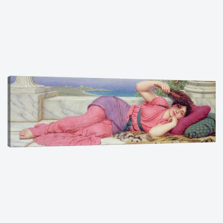 Noon Day Rest, 1910  Canvas Print #BMN10844} by John William Godward Canvas Art