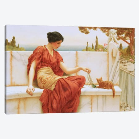 The Favourite, 1901  Canvas Print #BMN10845} by John William Godward Canvas Artwork