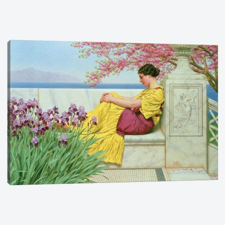 Under the Blossom that Hangs on the Bough, 1917  Canvas Print #BMN10847} by John William Godward Canvas Wall Art
