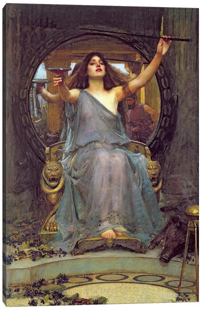 Circe Offering the Cup to Ulysses, 1891  Canvas Art Print