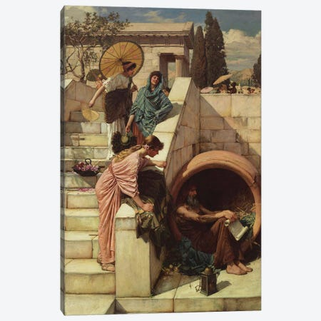 Diogenes  1882  Canvas Print #BMN10854} by John William Waterhouse Canvas Art Print