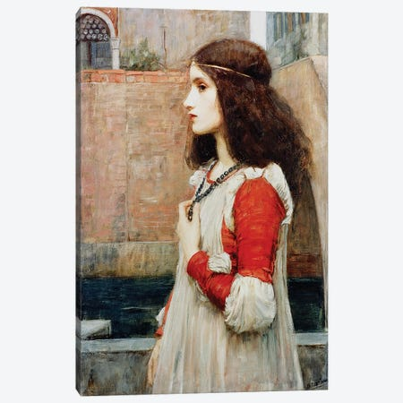 Juliet  Canvas Print #BMN10857} by John William Waterhouse Art Print