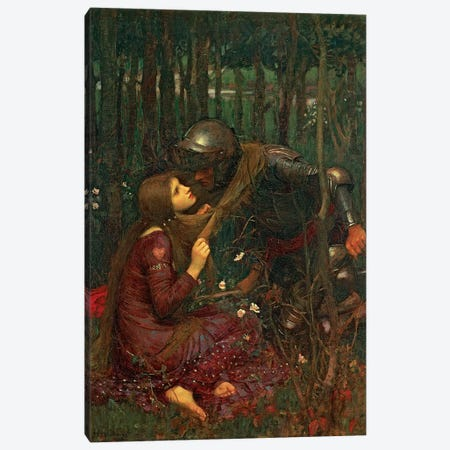 La Belle Dame Sans Merci, 1893  Canvas Print #BMN10858} by John William Waterhouse Canvas Wall Art