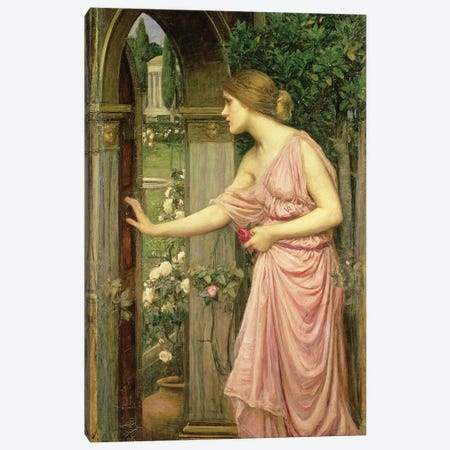 Psyche entering Cupid's Garden, 1903  Canvas Print #BMN10860} by John William Waterhouse Canvas Print