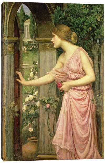 Psyche entering Cupid's Garden, 1903  Canvas Art Print