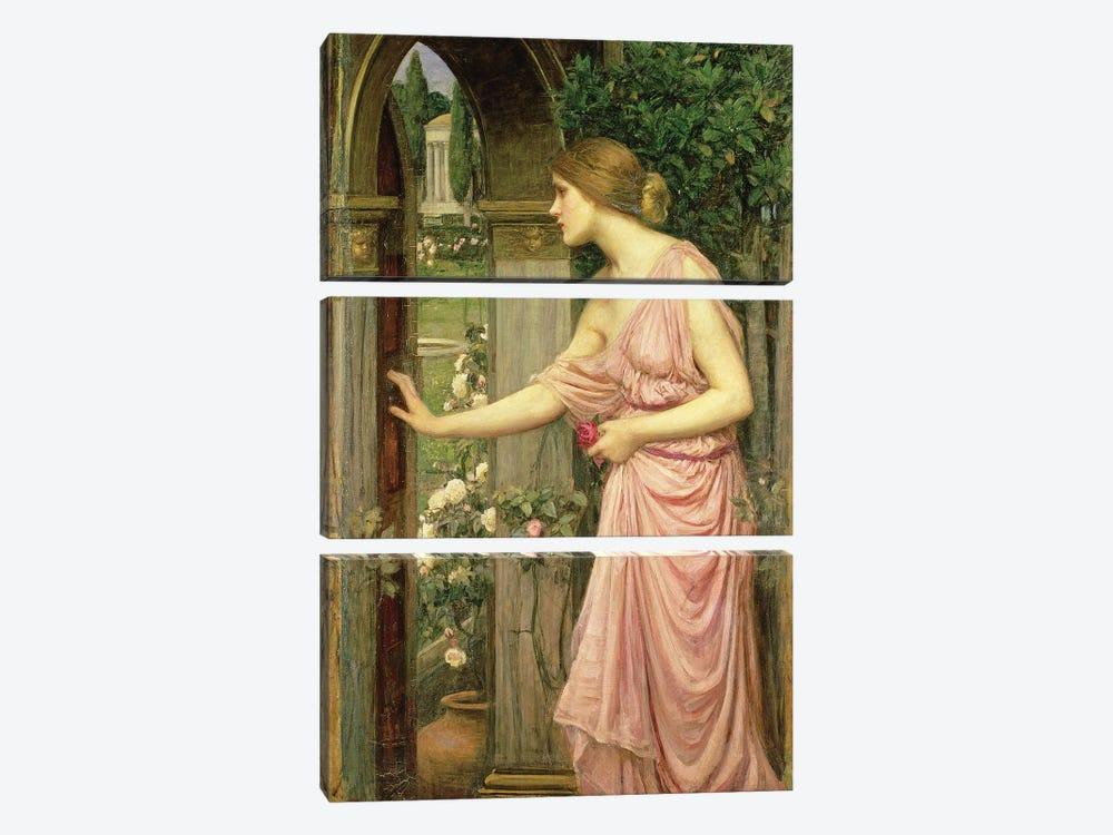 Psyche entering Cupid's Garden, 1903  by John William Waterhouse 3-piece Canvas Print