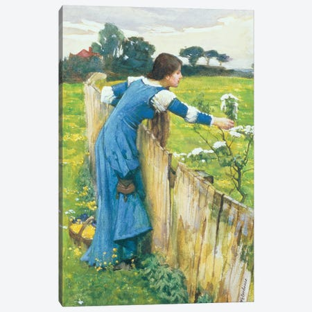 Spring Canvas Print #BMN10861} by John William Waterhouse Canvas Print