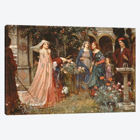 The Enchanted Garden, c.1916-17  Canvas Print #BMN10862} by John William Waterhouse Canvas Print