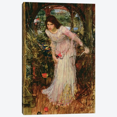 The Lady of Shalott, c.1894  Canvas Print #BMN10864} by John William Waterhouse Canvas Artwork