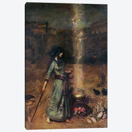 The Magic Circle  Canvas Print #BMN10865} by John William Waterhouse Canvas Art