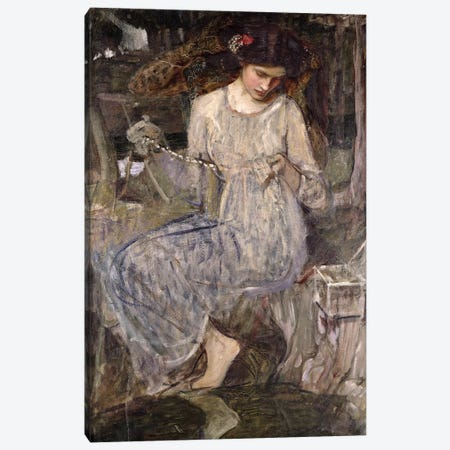 The Necklace, c.1909  Canvas Print #BMN10866} by John William Waterhouse Canvas Wall Art