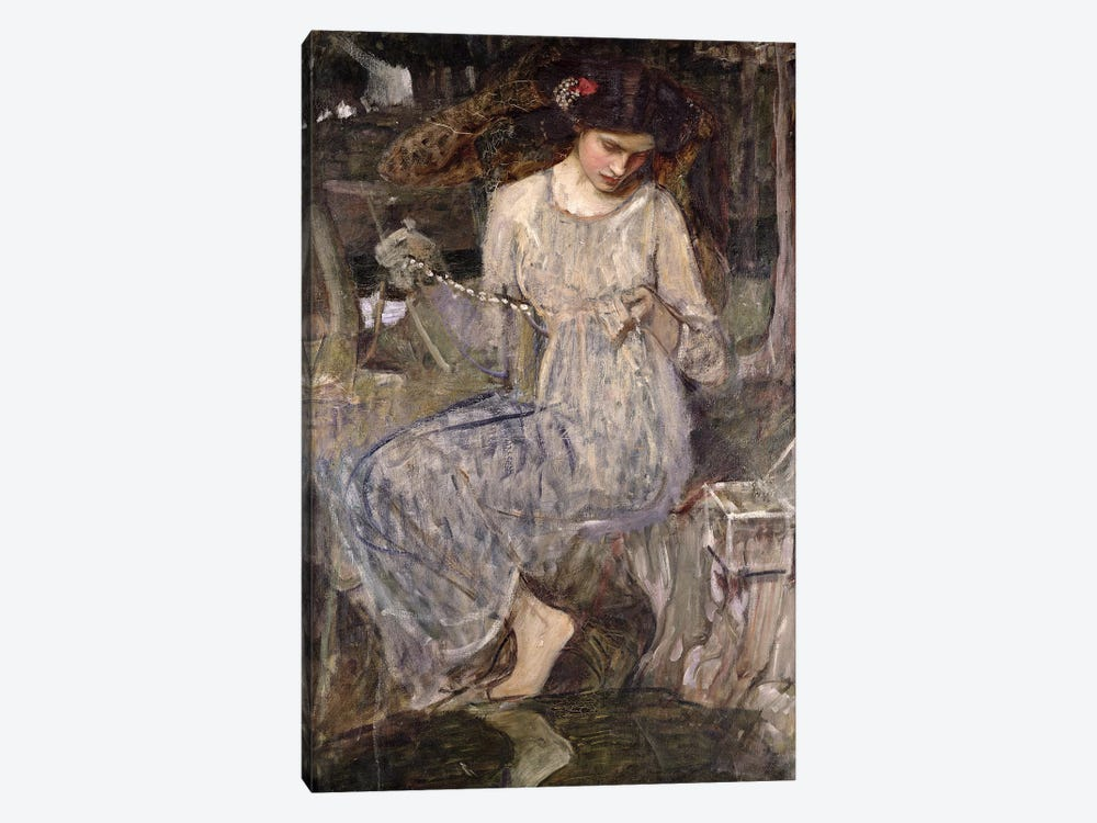 The Necklace, c.1909  by John William Waterhouse 1-piece Canvas Art Print