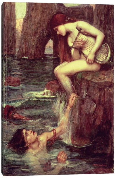 The Siren, c.1900  Canvas Art Print