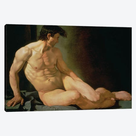 Male Nude Canvas Print #BMN10879} by Joseph Galvan Canvas Wall Art