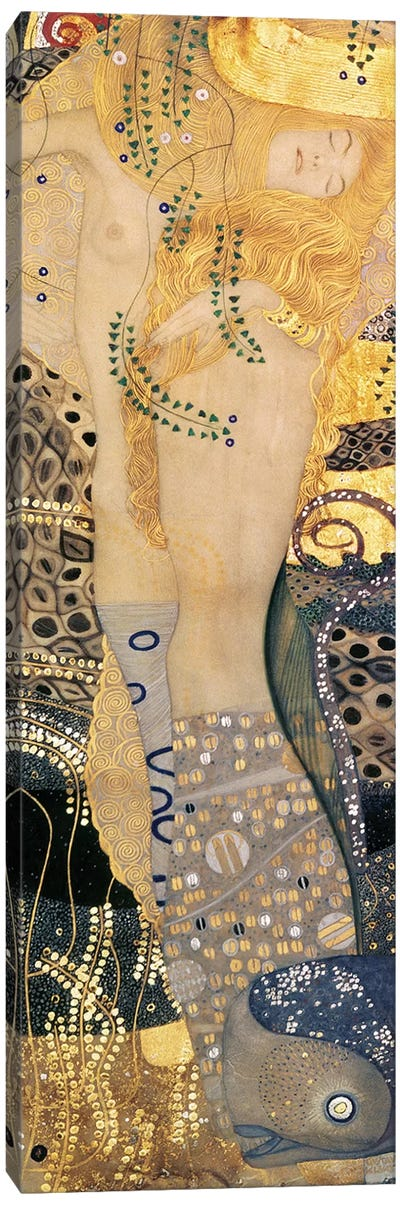 Water Serpents I, 1904-07 by Gustav Klimt Canvas Art Print