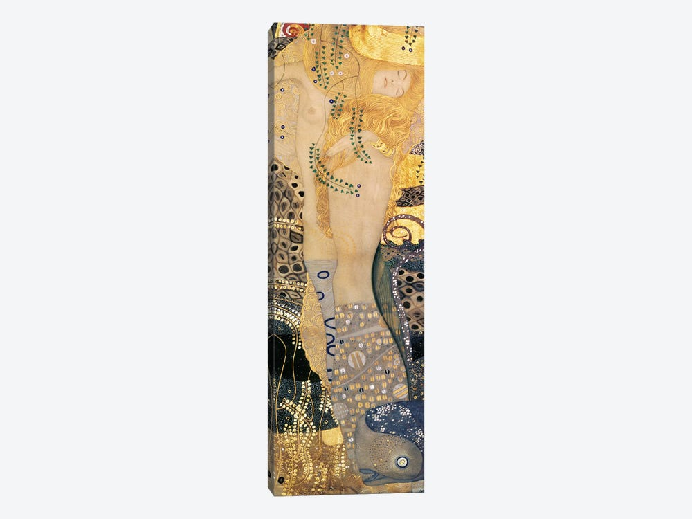Water Serpents I, 1904-07 by Gustav Klimt 1-piece Canvas Artwork