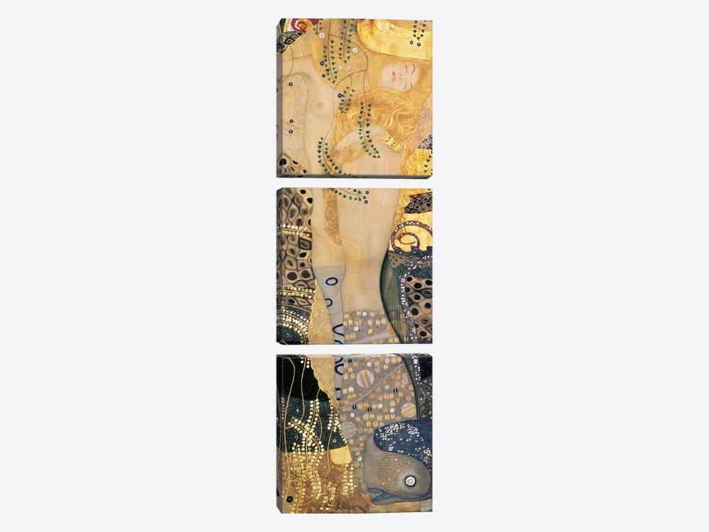Water Serpents I, 1904-07 by Gustav Klimt 3-piece Canvas Wall Art