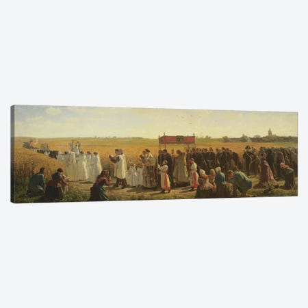 The Blessing of the Wheat in the Artois, 1857  Canvas Print #BMN10888} by Jules Breton Art Print