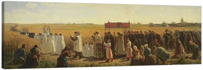 The Blessing of the Wheat in the Artois, 1857  Canvas Art Print