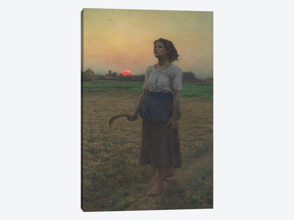 The Song of the Lark, 1884  by Jules Breton 1-piece Canvas Artwork