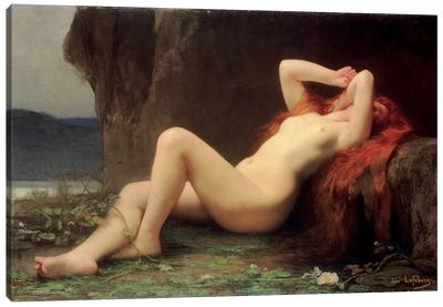 Mary Magdalene in the Cave, 1876  Canvas Art Print