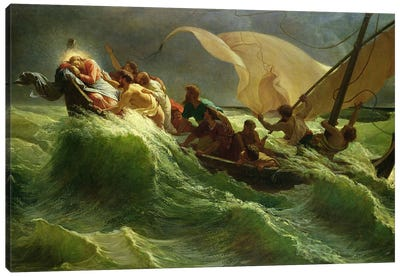 Christ Asleep in his Boat  Canvas Art Print