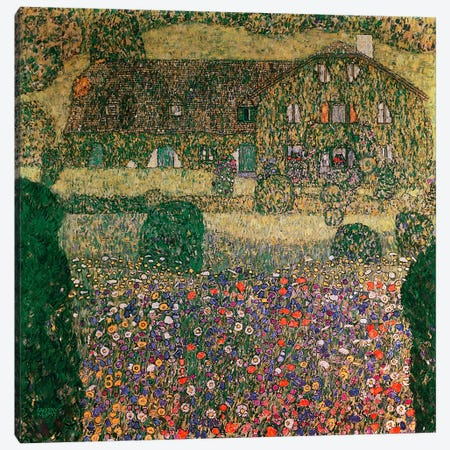 Country House By The Attersee, c.1914 Canvas Print #BMN1089} by Gustav Klimt Canvas Wall Art
