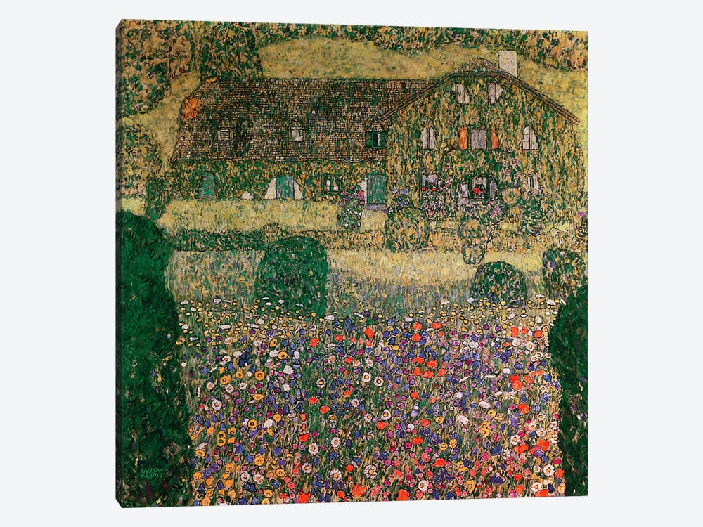 Country House By The Attersee, c.1914 by Gustav Klimt 1-piece Canvas Art