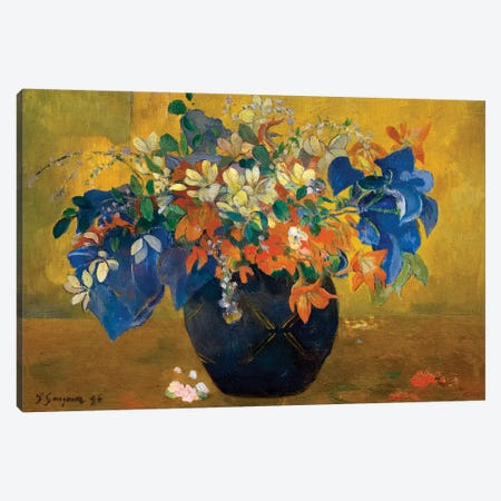 A Vase of Flowers, 1896  Canvas Print #BMN10901} by Paul Gauguin Canvas Wall Art