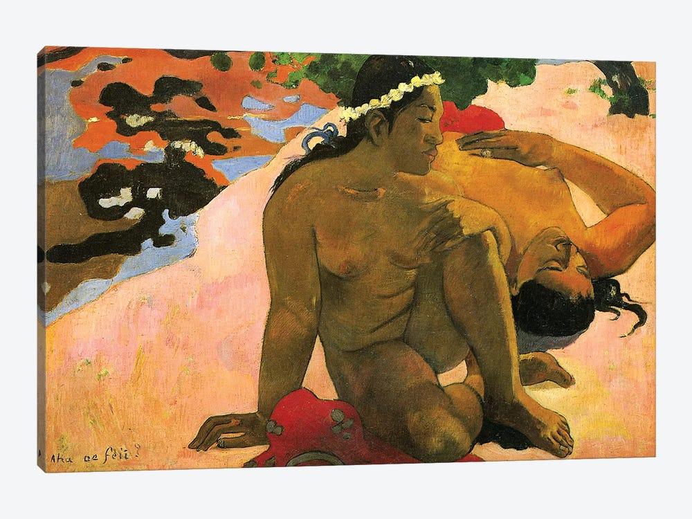 Aha oe Feii , 1892  by Paul Gauguin 1-piece Canvas Artwork