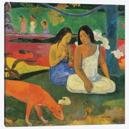 Arearea , 1892  Canvas Print #BMN10904} by Paul Gauguin Canvas Art Print