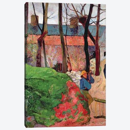 Cottage at Le Pouldu, 1890  Canvas Print #BMN10908} by Paul Gauguin Canvas Wall Art