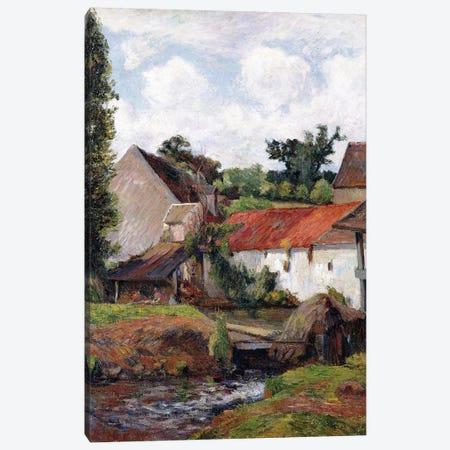 Farm at Osny, 1883  Canvas Print #BMN10909} by Paul Gauguin Canvas Wall Art