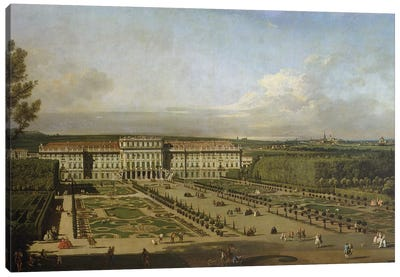 Schonbrunn Palace and gardens, 1759-61 Canvas Art Print