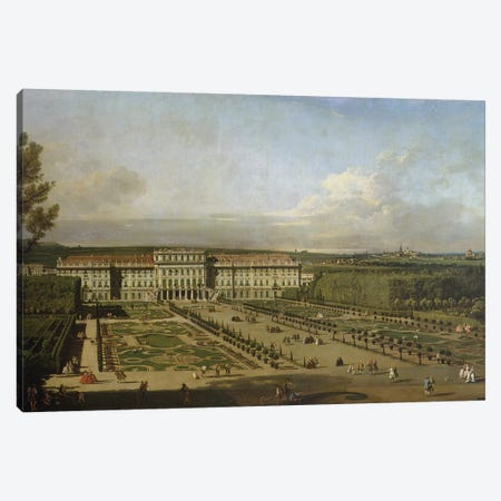 Schonbrunn Palace and gardens, 1759-61 Canvas Print #BMN1090} by Bernardo Bellotto Canvas Art Print
