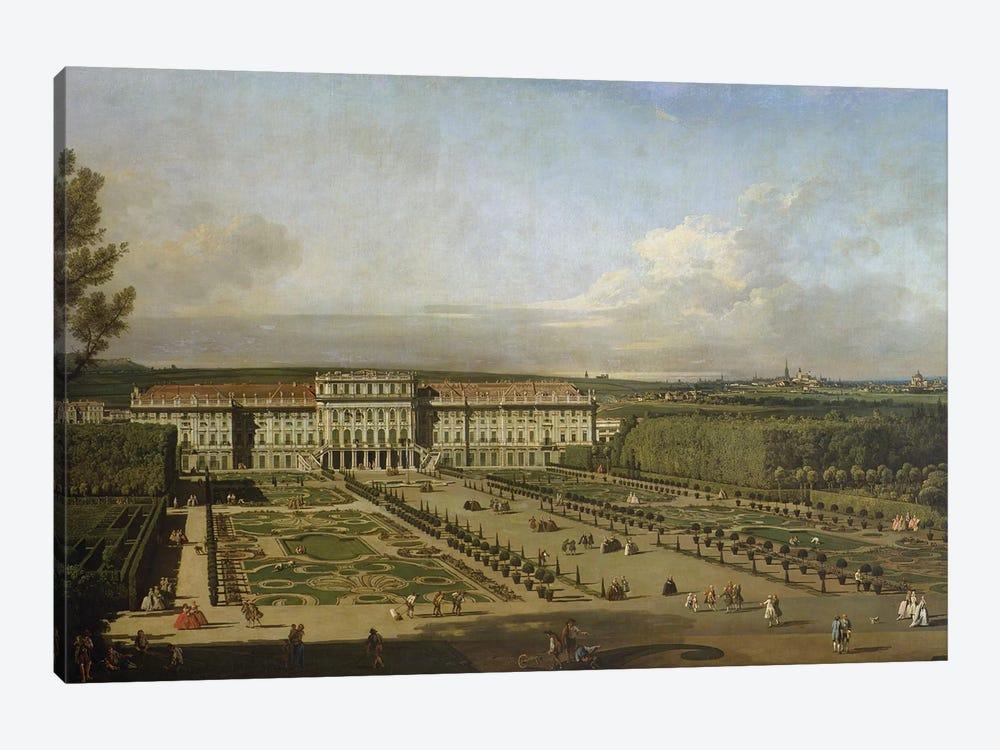 Schonbrunn Palace and gardens, 1759-61 by Bernardo Bellotto 1-piece Canvas Wall Art