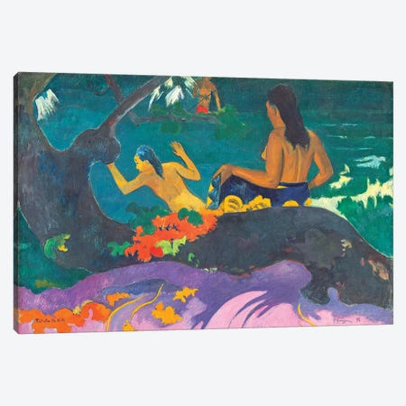 Fatata te Miti  1892  Canvas Print #BMN10910} by Paul Gauguin Canvas Art Print