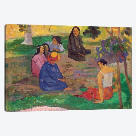 Les Parau Parau , or Conversation, 1891  Canvas Print #BMN10914} by Paul Gauguin Canvas Art