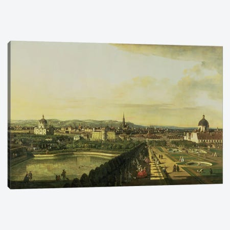The Belvedere from Gesehen, Vienna Canvas Print #BMN1091} by Bernardo Bellotto Canvas Art Print
