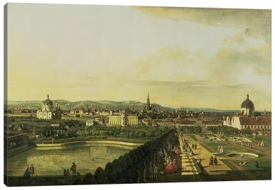 The Belvedere from Gesehen, Vienna Canvas Art Print