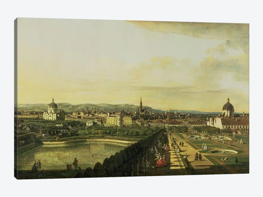 The Belvedere from Gesehen, Vienna by Bernardo Bellotto 1-piece Canvas Print