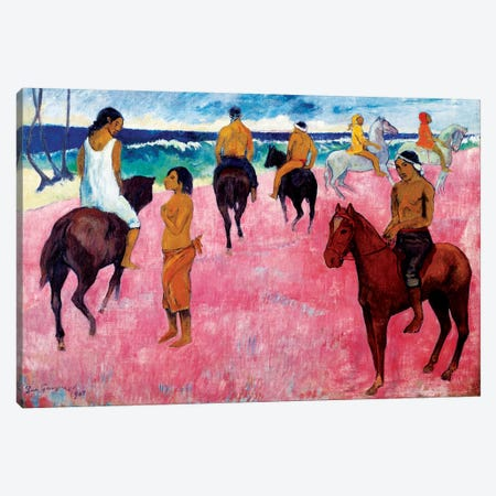 Riders on the Beach, 1902  Canvas Print #BMN10920} by Paul Gauguin Canvas Art