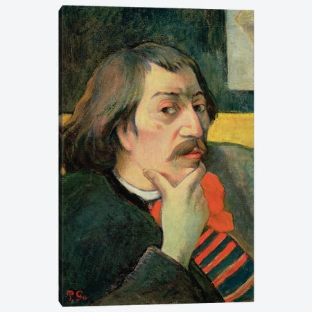 Self Portrait, c.1893  3-Piece Canvas #BMN10922} by Paul Gauguin Canvas Artwork