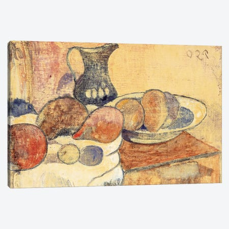 Still life with a Pitcher and Fruit Canvas Print #BMN10923} by Paul Gauguin Canvas Art