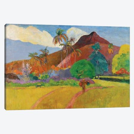 Tahitian Landscape, 1891  Canvas Print #BMN10924} by Paul Gauguin Canvas Print