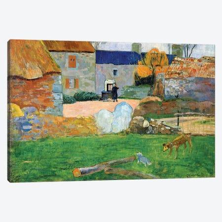 The Blue Roof or Pouldu Farm, 1890  Canvas Print #BMN10926} by Paul Gauguin Canvas Print