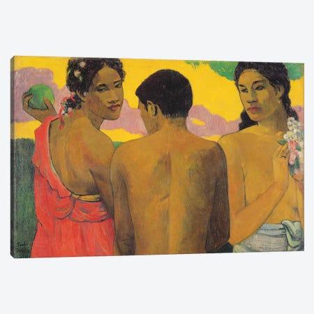 Three Tahitians, 1899 Canvas Print #BMN10928} by Paul Gauguin Canvas Wall Art